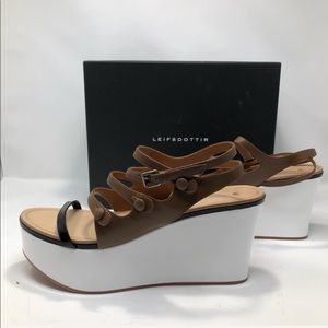 RARE! Anthropologie-Leifsdottir Platform Wedge NIB